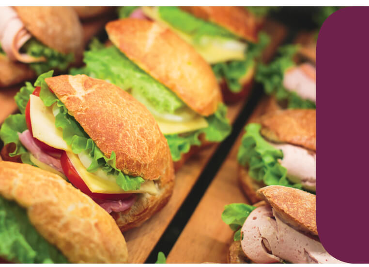 buffet sandwiches fresh banner