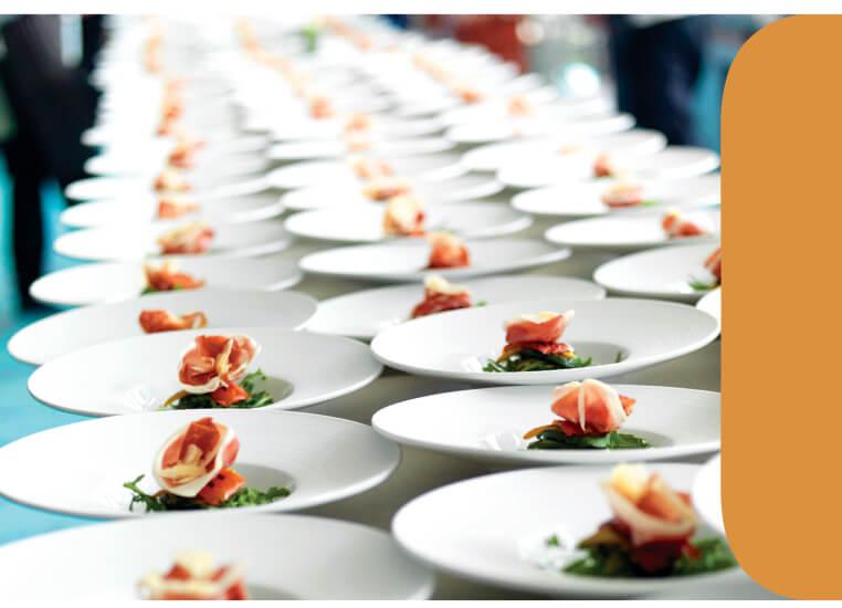 wedding plate meals banner