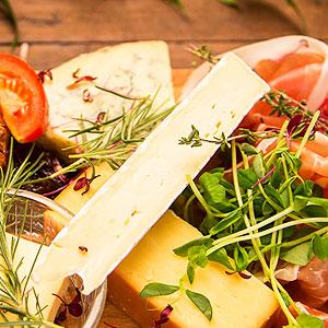 fresh platter cheese salmon