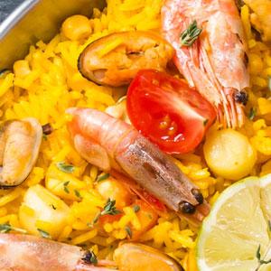 paella dish colourful
